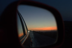 driving home (alexbajramovic) Tags: home car mirror twilight highway driving roadtrip rearview