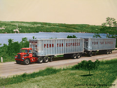 Brockway Penn Yan Express (gdmey) Tags: colorized transportation trucks brockway huskie brockwaytruck