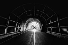 Tunnel to Diamond Head (Berkehaus) Tags: white black head tunnel monotone diamond