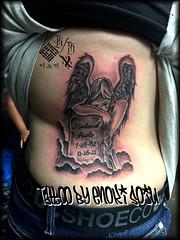 Tattoo by Enoki Soju (Enoki Soju) Tags: tattoo artist es est tattooart tattoodesign tattooartist memorialtattoo angeltattoo travelingartist religioustattoo awardwining tattoophoto enokisoju enokisojutattoo professionaltattooartist awardwinningtattooartist tattoobyenokisoju enosoxo prayingangeltattoo tattoosbyenokisoju publishedtattooartist angelgravetattoo
