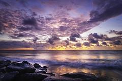 DSC_5165 (stevedupree1936) Tags: ocean clouds sunrise waves southcarolina places charleston beaches follybeach sandunes groins