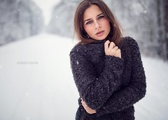 Evi (AlexanderStegerArt) Tags: winter snow cute art fashion female canon snowflakes model eyes sweet modeling outdoor makeup posing lifestyle sigma naturallight lips gym