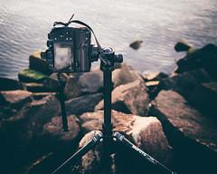 Shooting Setup (seikoesquepayne) Tags: camera film water rocks outdoor tripod gear olympus equipment faux f18 em1 17mm ep5 mefoto vsco