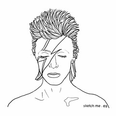 DAVID BOWIE (sketch me   custom portraits) Tags: david me portraits sketch bowie profiles retratos more human than be need mano to always had custom something facebook   repulsive encargo twitter a i dibujados bowie