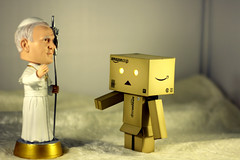Holy father meeting Danbo (Spookyfilm) Tags: pope fun paul funny father meeting holy ii johannes danbo danboard