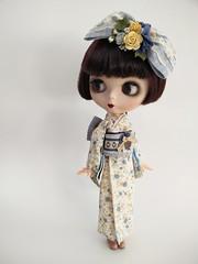 Kimono Series #1 (fae (pomme-pomme)) Tags: floral japan vintage clothing doll lace ooak kimono blythe custom naturalkei punkaholicpeople morigirl