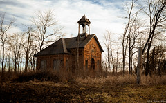 """December Sunrise"" (D A Baker) Tags: allen county indiana school schoolhouse landscape abandon derelict vacant decay hoosier old antique fujifilm x100s daniel baker da"