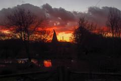 Bough Beech Oast (Gareth Christian) Tags: sunset canon oast kent powershot kwt oasthouse boughbeech kentwildlifetrust sx230