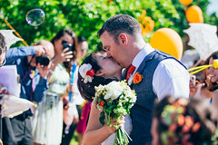 Van & Darren (lissimorephoto) Tags: wedding summer colour love kiss kissing married marriage husband wed bubble wife embrace weddingday bigday