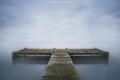 Long Exposure (Steven Dijkshoorn) Tags: blue mist lake water fog long exposure minimalism