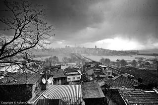 Nostalgic Wintertime Istanbul Panorama