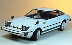 Nostalgic Car Kits  Tamiya  1/24 Mazda Savanna RX-7  2 (My Toy Museum) Tags: car purple plastic nostalgic kit tamiya mazda rx7 savanna
