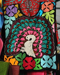 Peacock Embroidered Huipil Mexico (Teyacapan) Tags: mexico clothing mexican oaxaca textiles embroidered mazatec huipils pavoroyal jalapadediaz