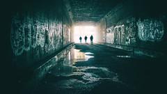 Sixth Street Blues (ShutterJack) Tags: bridge light streets water silhouette underground graffiti la losangeles gangster gang tunnel viaduct aqueduct sewage hood westcoast dtla swagger grandtheftauto 6thstreetbridge boyleheights 6thstreetviaductbridge