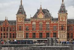 Amsterdam Centraal Railway Station (PhotosToArtByMike) Tags: holland netherlands dutch amsterdam centercity railwaystation centrum amsterdamcentraal centralrailwaystation northholland