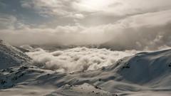 Sainte Foy Tarentaise (Silk Rhodes) Tags: panorama cloud snow montagne alpes sainte view wind hiver viento neige nuages foy vue tarentaise