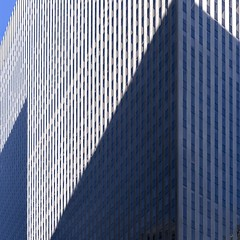 News Corp Building, New York (josullivan.59) Tags: blue shadow wallpaper urban panorama usa white abstract detail texture geometric architecture day skyscrapers unitedstates manhattan january clear midtown minimalism 6thave lightanddark artisitic 2016 3exp canon6d tamron150600