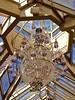 Chandelier, Cupola, Conservatory (scmrsgena) Tags: family newjersey victorian nj conservatory chandelier greenhouse cupola atrium beams brownstone cobalt chrystal repast housewivesofnewjersey mrsgrna