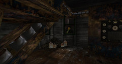 Dimly lighted opportunity (Teddi Beres) Tags: life old window mystery decay garage rustic spooky sl rusted worn second dilapidated bluff suspense blacklichen