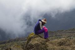 Lonely Porter at Mount Kilimanjaro (alfonsocarrera@ymail.com) Tags: africa mountain black kilimanjaro trekking tanzania afrika effort porter alpinism hardlife