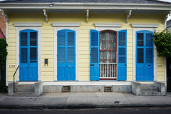 1109-1111 (thedecentexposure) Tags: street city travel blue windows usa house travelling yellow french photography cityscape neworleans quarter nola travelphotography