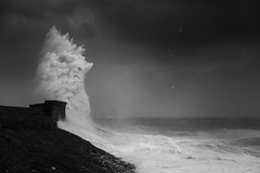 Glory (Tim Bow Photography) Tags: blackandwhite bw lighthouse seascape water pier waves power wave stormy structure british welsh swell seas porthcawl blackandwhitephotography 2016 stormyseas purenature porthcawlpier timboss81 timbowphotography welshseascape ukwildweather ukwinterstorms2016 stormimogen