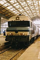 20040908 025 Tours. 72055 Arrived Train 4504 09.09 Lyon-Part-Dieu - Nantes. 22404 Took The Train Forward (15038) Tags: france diesel trains locomotive tours railways sncf cc72000 72055