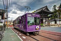 Arashiyama/Kyoto - Keifuku Electric Railway (Randen) (David Pirmann) Tags: japan kyoto trolley tram arashiyama transit streetcar keifuku koryuji randen arashiyamaline randensaga