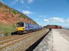143603 Dawlish Sea Wall (2) (Marky7890) Tags: train railway seawall pacer gwr dmu fgw 2f25 class143 143603dawlish
