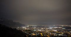 Dornbirn at night (philschni) Tags: mountains night canon austria dornbirn 5d