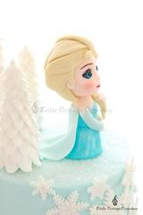 Elsa (Little Cottage Cupcakes) Tags: birthday snowflake cake frozen disney birthdaycake caketopper sparkly elsa fondant frozencake sugarpaste girlcake littlecottagecupcakes elsacake