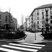milano, piazza bernini d'inverno
