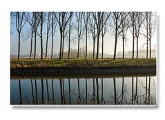 Schipdonkvaart (mayaplus) Tags: water reflections canal belgium brugge vaart damme schipdonkvaart