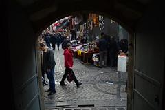 DSC_1793 (zeynepcos) Tags: door boy red turkey kid istanbul bazaar eminonu sirkeci tahtakale