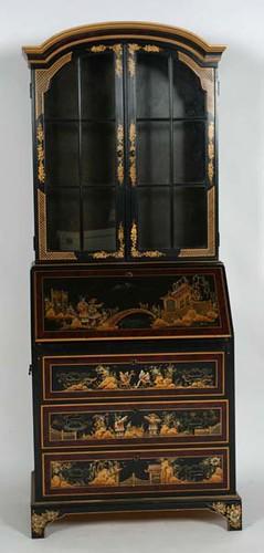 Maddox Black Lacquer Oriental Secretary - $330.00