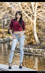 Gema - 3/4 (Pogdorica) Tags: parque chica retrato modelo denim otoo retiro sesion morena gema vaquero posado
