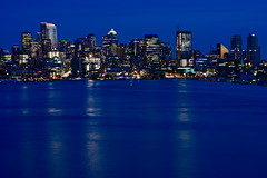 The City of Seattle (nebulous 1) Tags: seattle city blue water lights washington nikon gasworks wa lakeunion bluehour gasworkspark nebulous1 thecityofseattle