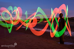 Another Place (entoptika) Tags: lightpainting beach nature coast nikon ribbons humanity led coastal dna figurine crosby antonygormley anotherplace pixelstick nikond750