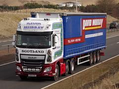 David Murray DAF XF SV64KDO on the A9 at Blackford, 13/3/16 (andyflyer) Tags: truck transport lorry blackford a9 davidmurray haulage hgv roadtransport dafxf sv64kdo