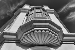 looking up (HelenB55) Tags: newzealand blackandwhite architecture d750 waimate nikon2470