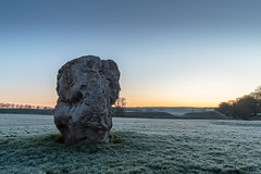 Cool morning (Ken_Jones) Tags: morning blue england sky cold standing sunrise ancient frost unitedkingdom stones gb druid avebury