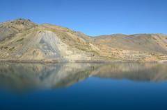 Reflections (Laura Cruzat) Tags: chile santiago laura nature del cajon embalse maipo cajondelmaipo yeso naturalesa
