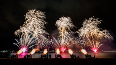 Skyfire Fireworks Display 2016-1 (David Tao Photography) Tags: silhouette fireworks celebration canberra skyfire gunfire lakeburleygriffin australiasfederationguard gallipolireach hit1047