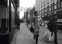 Rush (Brian Gilbreath) Tags: street nyc newyorkcity urban blackandwhite bw woman film 35mm nikon streetphotography f3 ilford nikonf3 filmphotography briangilbreath briangilbreathphotography