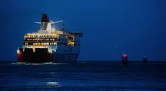 bon voyage (keith midson) Tags: night evening boat still sailing ship melbourne calm depart tasmania shipping navigation devonport spiritoftasmania