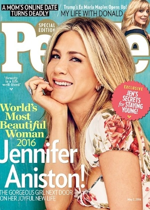 """Jennifer Aniston é eleita a mulher mais bonita do mundo pela """"People"""""""