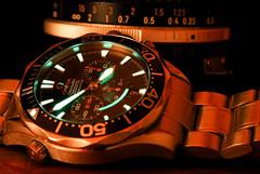 Omega Seamaster  2594.50 (Tom Anirae) Tags: light pose long exposure watch omega dial seamaster chronometer chronograph 10sec f13 lumeshot 259450