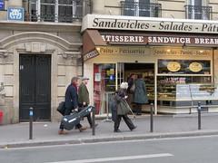 Space Invader PA_1198 (tofz4u) Tags: street people streetart paris breakfast tile mosaic spaceinvader spaceinvaders sandwich patisserie invader 75006 rue boulangerie mosaque salades artderue pa1198
