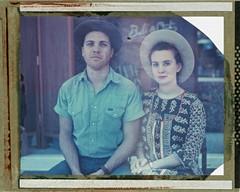Julian and Kate (troybradfordphotos) Tags: portrait people color portraits polaroid texas 4x5 crown denton largeformat 135mm crowngraphic roid xenar colorfilm type59 f47 roidweek 4x5film polaroidtype59 peopleofdenton makeportraits roidweek2016 135mmxenarf47
