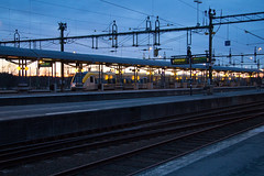 Nssj station (thejoltjoker) Tags: street city houses winter house streets train sweden stock trainstation sverige jnkping earlyspring 2015 nssj